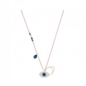 Swarovski Duo Evil Eye Pendant - Blue