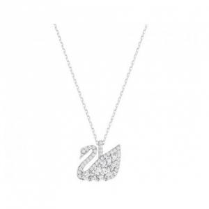 Swarovski Small Swan Lake Pendant - Silver