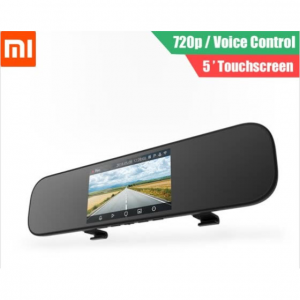 Xiaomi Mijia 5 inch Touchscreen Smart Rearview Mirror Car DVR with Voice Control @ JoyBuy