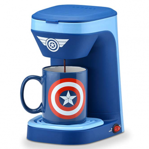 $5.86 off Marvel Captain America 1-Cup Coffee Maker with Mug @ Amazon