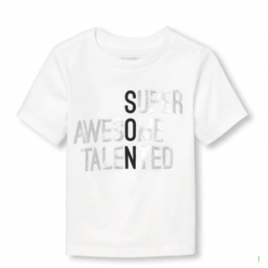 Baby And Toddler Boys Matching Family Short Sleeve Foil Son Definition Graphic Tee