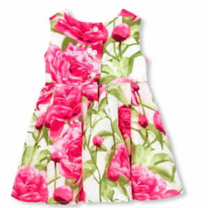 Baby Girls Mommy And Me Sleeveless Floral Print Woven Matching Dress And Bloomers Set