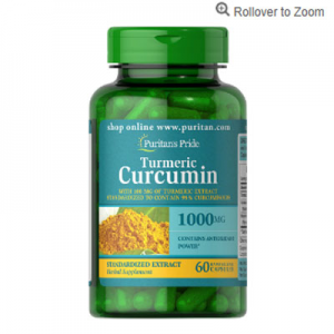 Puritan's Pride Turmeric Curcumin 1000 mg with Bioperine 5 mg