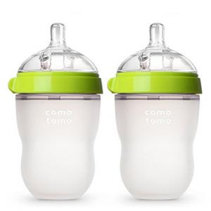 Extra $6 Off Comotomo Baby Bottle, Green, 8 Ounce, 2 Count @ Amazon