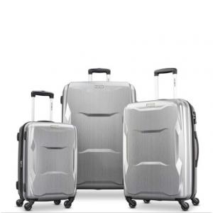 Samsonite Pivot 3 Piece Set - Luggage, Brushed Silver
