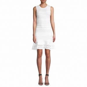 Bailey 44 Crepe Suzette Perforated Sweater Tank Dress