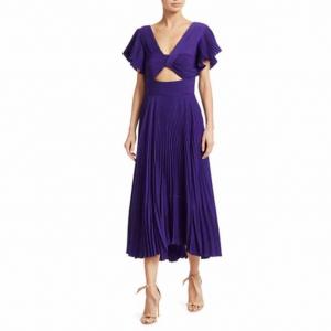 A.L.C. Sorrento Cutout Pleated Dress