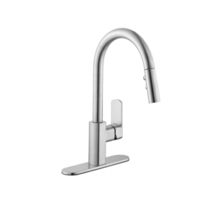 50% off Schon 7500 Series Single-Handle Pull-Down Sprayer Kitchen Faucet in Chrome @The Home Depot