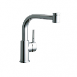 Elkay Mystic Single-Handle Pull-Out Sprayer Bar Faucet in Chrome