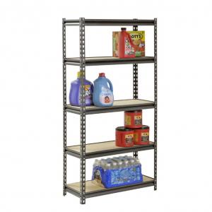 Muscle Rack 60'' H x 30'' W x 12'' D 5 Shelf Z-Beam Boltless Steel Shelving Unit in SilverVein