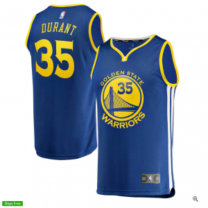 Kevin Durant Golden State Warriors Fanatics Branded Youth Fast Break Replica Jersey Royal - Icon E