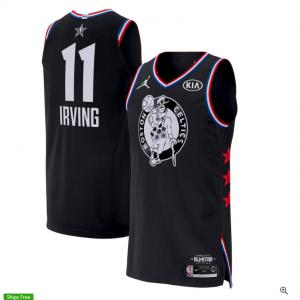 Kyrie Irving Boston Celtics Jordan Brand 2019 NBA All-Star Game Finished Authentic Jersey – Black