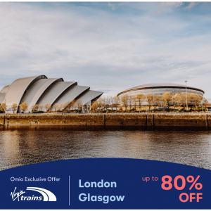 Omio - Virgin Train travel on selected routes tickets sale