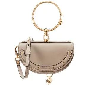 Chloé Nile Minaudiere Small Leather Bracelet Bag