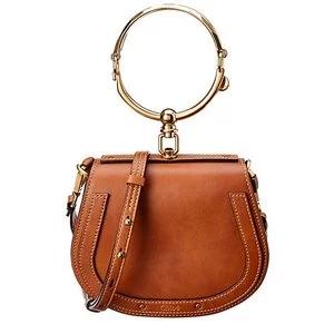 Chloé Nile Small Leather & Suede Bracelet Bag