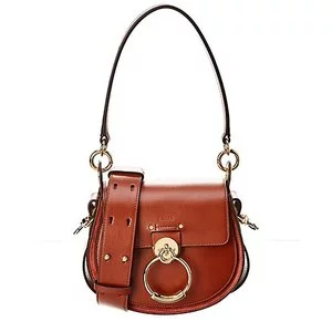 Chloe Tess Small Leather & Suede Shoulder Bag