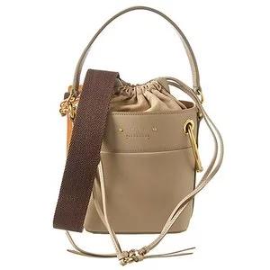 Chloe Roy Mini Leather Bucket Bag