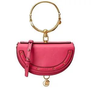 Chloe Nile Minaudiere Small Leather Bracelet Bag