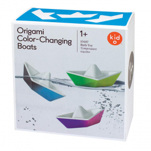 PlayMonster Kid O Color-Changing Origami Boats Bath Toy Set