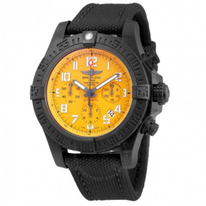 BREITLING Avenger Hurricane Cobra Yellow Dial Automatic Men's Chronograph Watch @ JomaShop