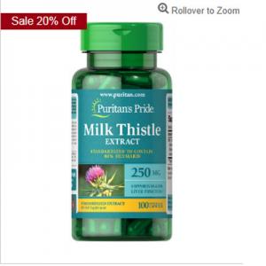 Puritan's Pride Milk Thistle Standardized 250 mg (Silymarin)