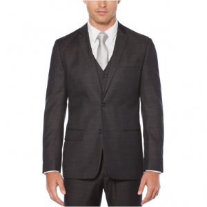 Slim Fit Chambray Suit Jacket