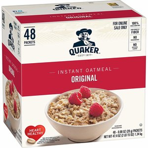 $9.84 Quaker Instant Oatmeal, Original, 48 Count @ Amazon