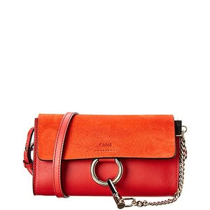Chole Faye Mini Leather & suede shoulder bag