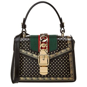 Gucci Sylvie Mini Moon & Stars Leather Shoulder Bag