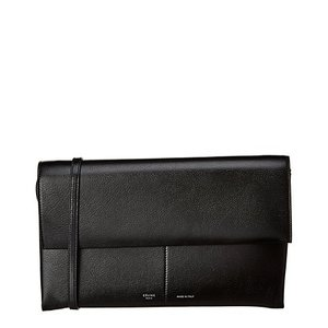 Celine Folded 2Way Leather Clutch Crossbody