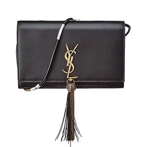 Saint Laurent Kate Chain Leather Clutch