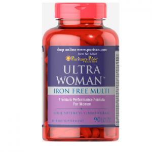 Puritan's Pride Ultra Women™ Daily Multi Iron Free Timed Release