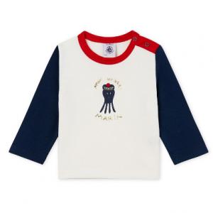 Petit Bateau Baby Boy's L/S Patterned T-Shirt