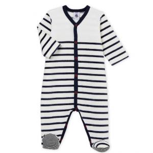 Petit Bateau Unisex Baby Velour Sleepsuit