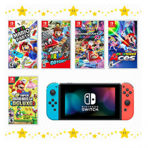 Nintendo Switch Console with Your Choice of Mario Game @ Walmart