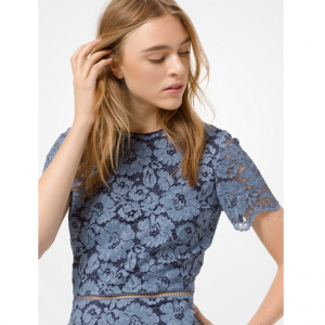 MICHAEL MICHAEL KORS Tie-Dye Floral Lace Dress