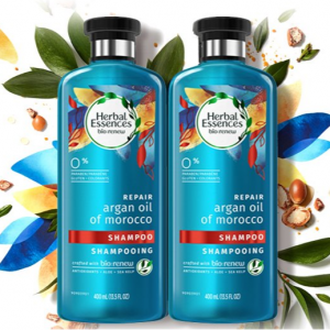 $6.98 (Was $12.99) For Herbal Essences, Shampoo, BioRenew Argan Oil of Morocco 13.5 fl oz, 2 Packs