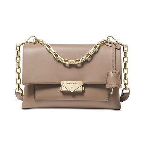 MICHAEL Michael Kors Cece Polished Leather Chain Small Shoulder Bag