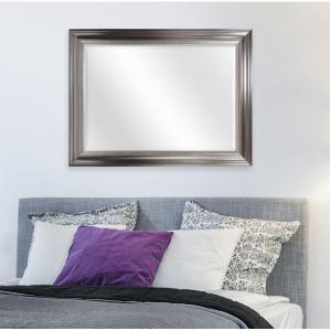 Bretton 39.87 in. H x 29.87 in. W Framed Mirror in Silver