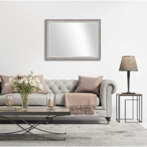 30 in. x 41 in. Grey Wood Decorative Wall Mirror