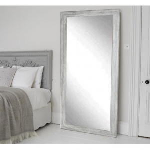 BrandtWorks Weathered Gray Full Length Floor Wall Mirror