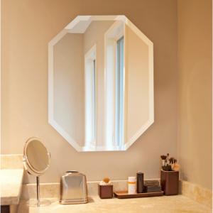 Howard Elliott 28 in. x 22 in. Octagonal Frameless Mirror