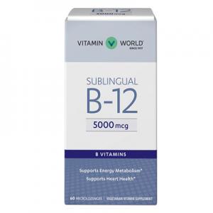 Vitamin World Vitamin B-12 5000 mcg. Sublingual.