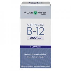 Vitamin World Vitamin B-12 5000 mcg. Sublingual