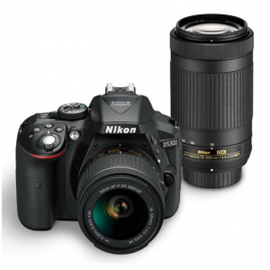 Nikon D5300 DX-Format 24.2MP DSLR Camera with 18-55mm & 70-300mm VR II Lenses Refurbis @ Adorama