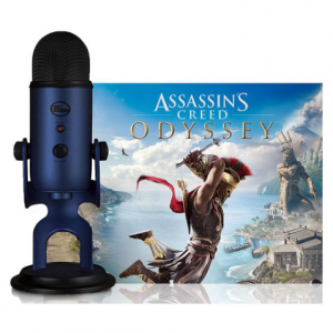 BLUE MICROPHONES Midnight Blue Yeti w/ Assassin's Creed Odyssey Bundle @ Buydig.com