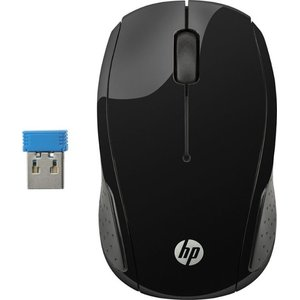 HP - 200 Wireless Optical Mouse - Black