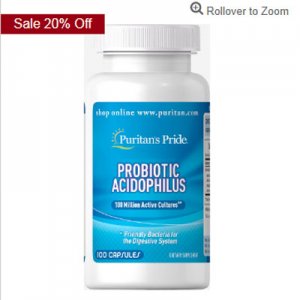 15% off Probiotics Supplements @ Puritan's Pride