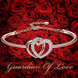 "$28.99 for J.NINA ""Guardian of Love"" Charming Heart Bracelet for Women @ Amazon"