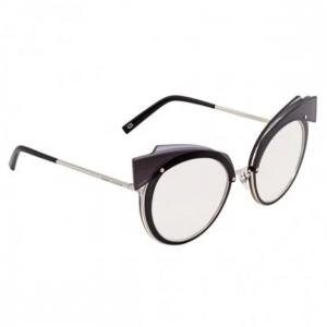 MARC JACOBS Violet Silver Mirror Round Ladies Sunglasses